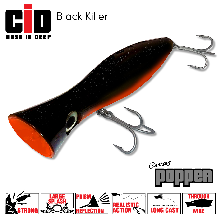 CID Casting Popper – Black Killer