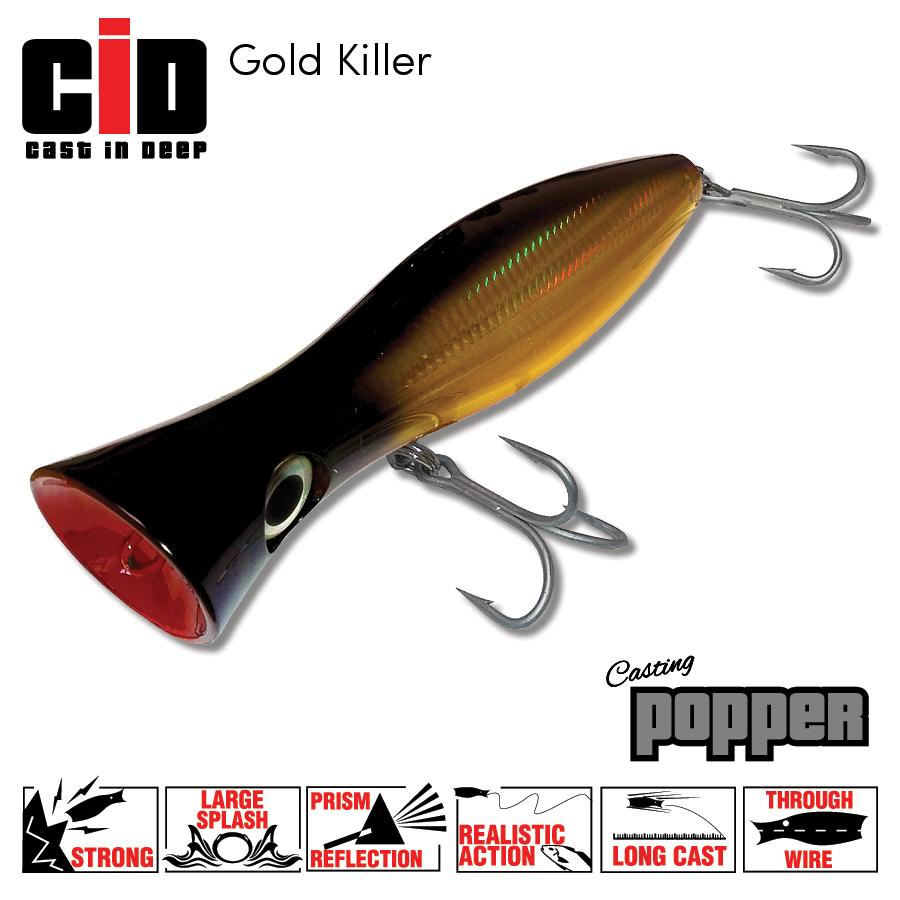CID Casting Popper - Gold Killer