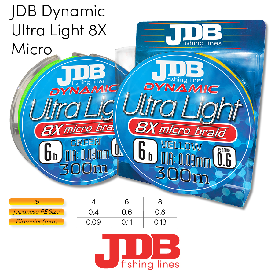 JDB Dynamic Ultra Light 8X Micro Braid