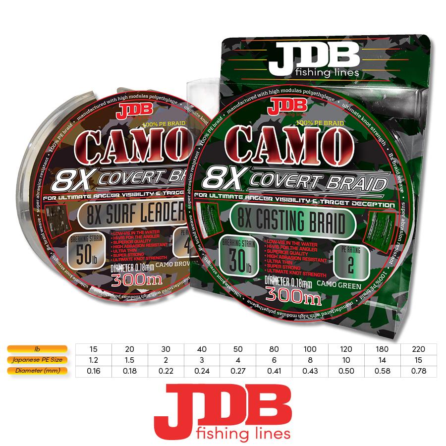 JDB Camo Covert 8X Braid