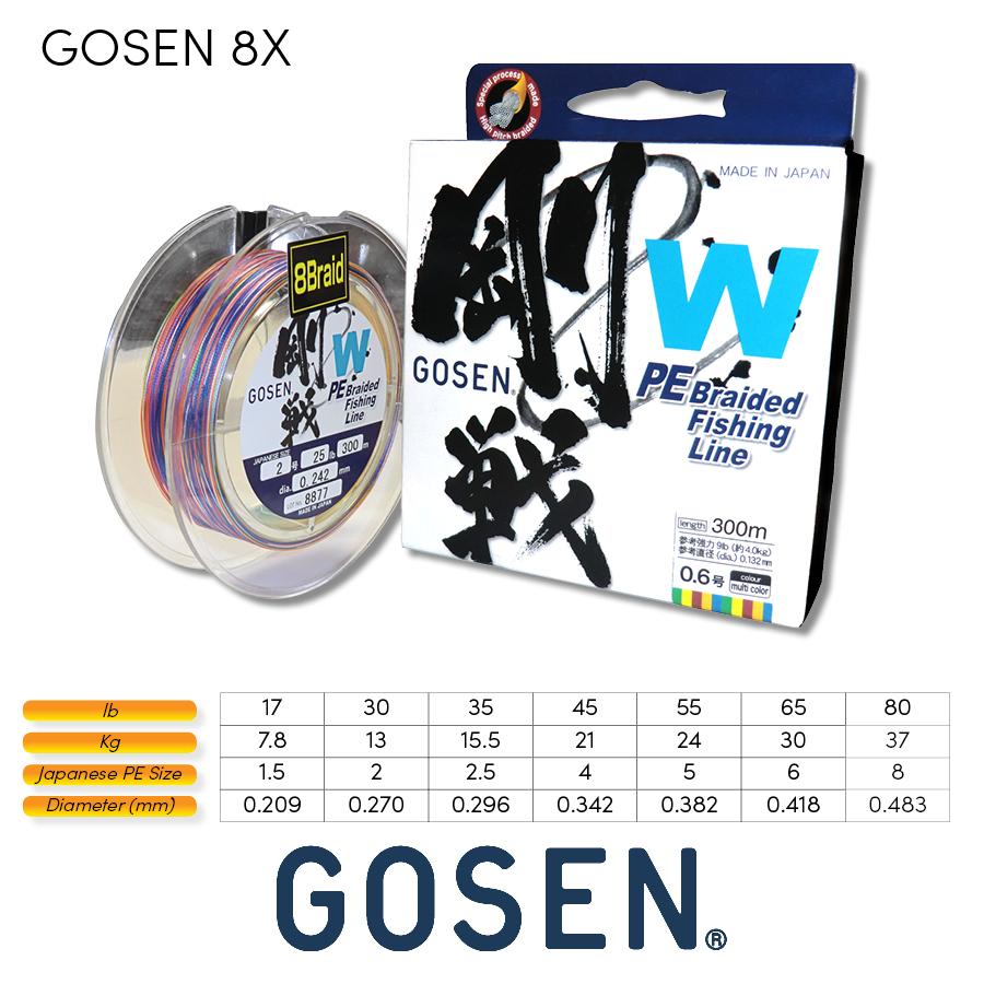 GOSEN - 5 colour Braid 8X