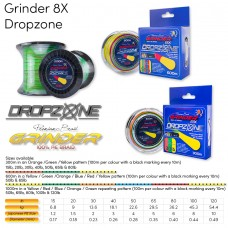 Grinder DropZone 8X Multi Colour Braid