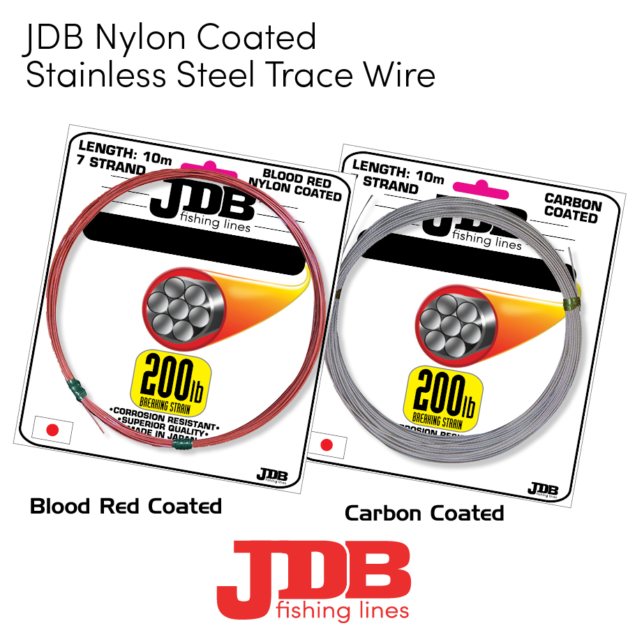 JDB Nylon Coated Stainless Steel Trace Wire
