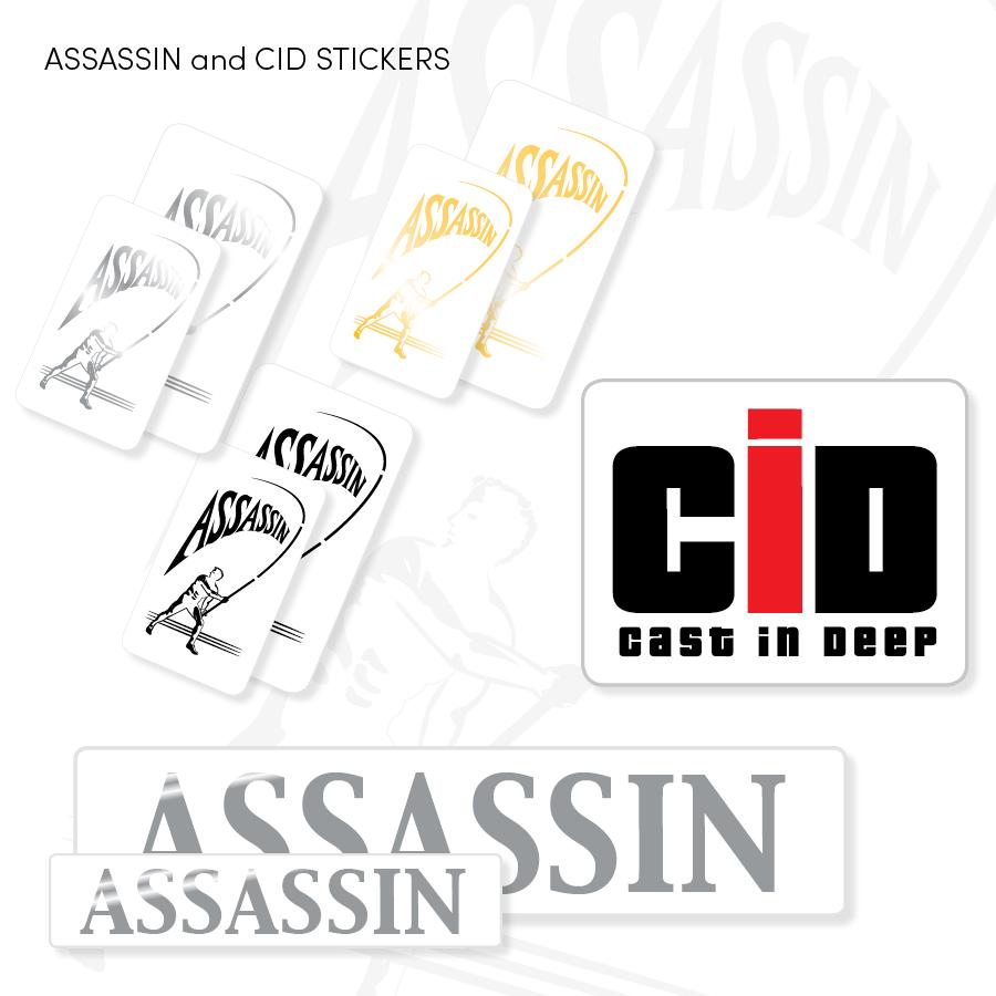 ASSASSIN & CID Stickers