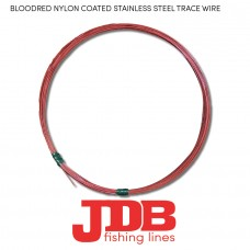 JDB Nylon Coated Stainless Steel Trace Wire (Bloodred)