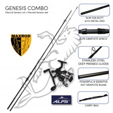 Maxrod Genesis Carp combo (Genesis rod and reel)