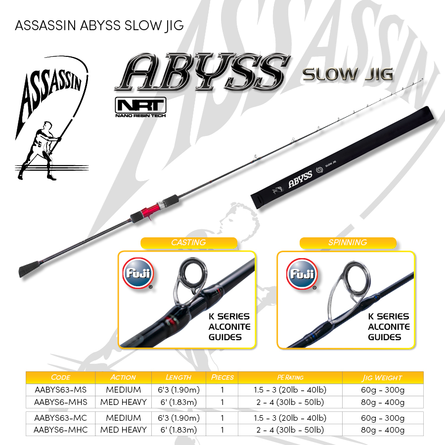 3.Boat, Popping & Jigging -  ASSASSIN ABYSS SLOW JIG